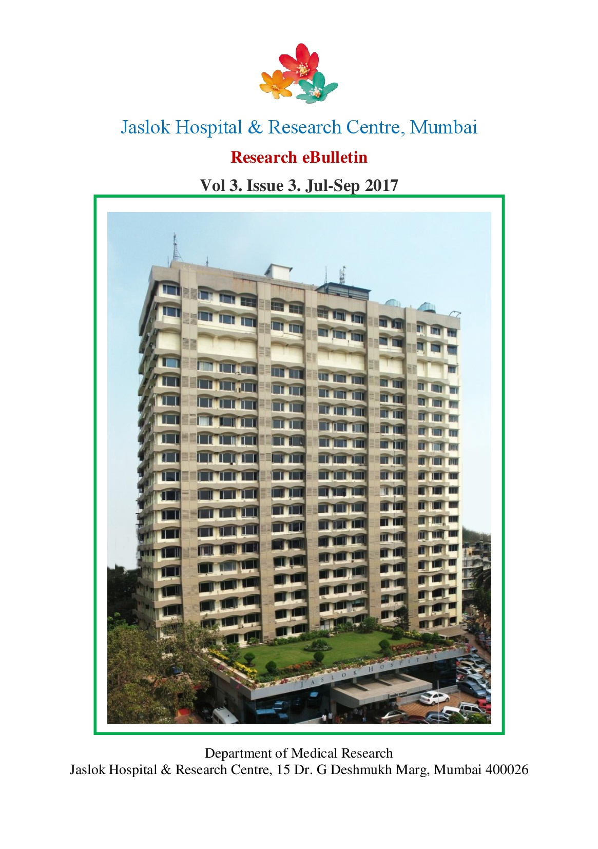 Jaslok Hospital Medical Research Bulletin - July - Sep 2017.jpg